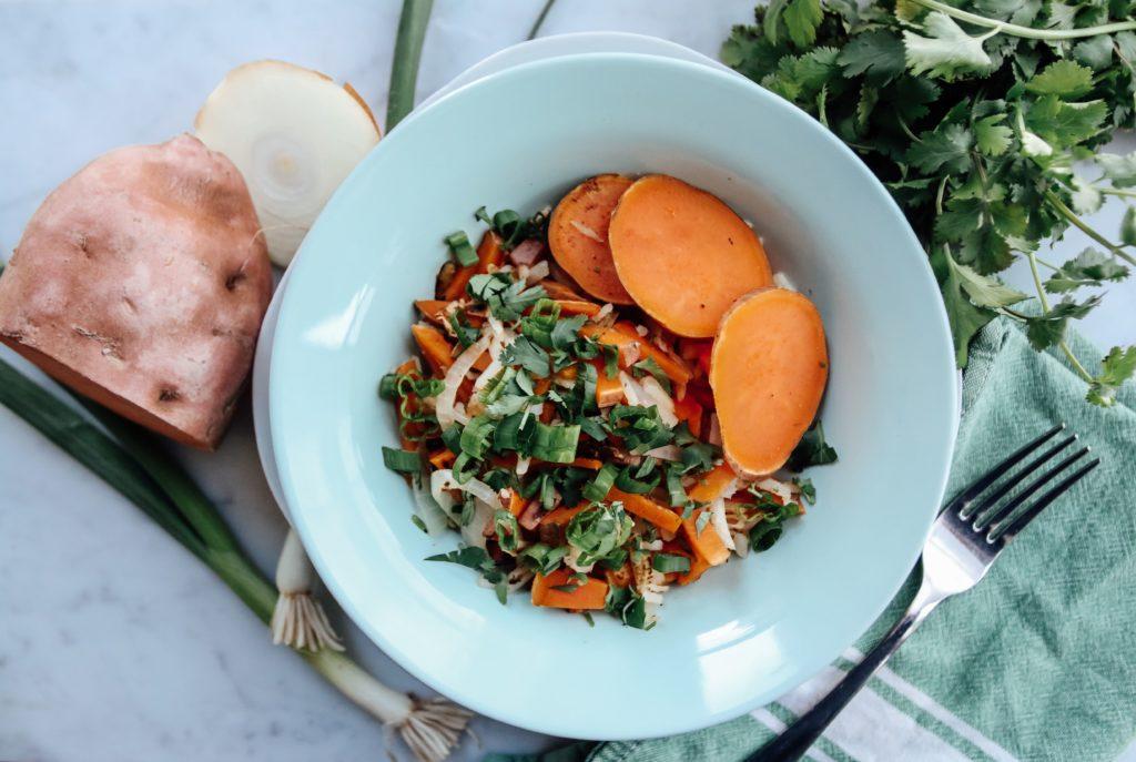 sweet potato hash in bowl